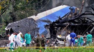 라디오 하바나 쿠바는 트위터를 통해 항공기가 아바나에서 남쪽으로 20㎞ 떨어진 보예로스와 산티아고 데 라스 베가스 사이 도로 지역에 추락했다고 말했다