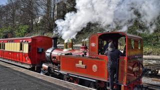 Steam train, Isle of Man