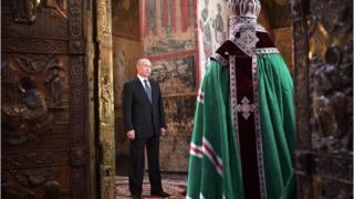 Путин в соборе