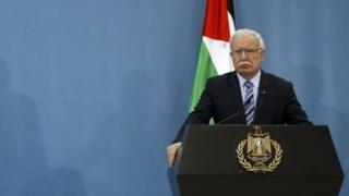 Palestinian Foreign Minister Riad Malki. File photo