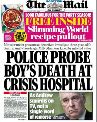 Scotland's papers: Boy's hospital death investigation and Army 'cover up'