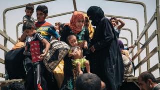 Musul'dan kaçan mülteciler