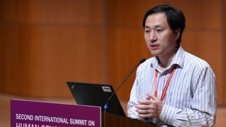 Chinese scientist He Jiankui speaks at the Second International Summit on Human Genome Modification in Hong Kong