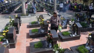 Một nghĩa trang liệt sỹ ở Hà Nội