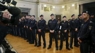 Tight security and intense media interest marked the start of Austria's 'trial of the year'
