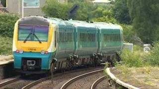 An Arriva train in north Wales