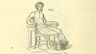 Глядя на этот рисунок из инструкции Пульвермахера, мы можем представить себе, как мог лечить свою ногу Чарльз Диккенс