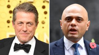Hugh Grant and Sajid Javid