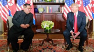 김정은 북한 국무위원장과 도널드 트럼프 미국 대통령