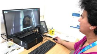 Technology GP demonstrating video link