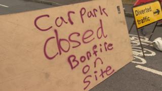 Car park closed sign