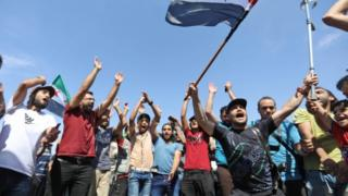 Demonstrasi di Idlib