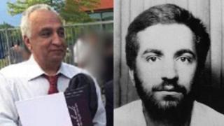 راست، عکس منتشر شده از محمدرضا کلاهی در دهه شصت و چپ، تصویری از علی معتمد در هلند که پس از قتل مشخص شد نام واقعیاش محمدرضا کلاهی است
