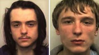 Mugshots of Matthew Hanley (left) and Connor Allsopp (right)