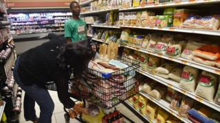 Haitian residents stock up on supplies