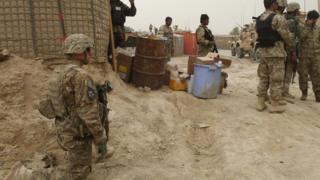 نیروهای آمریکایی مستقر در افغانستان