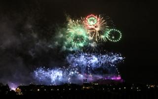 Have attached another photo of the Edinburgh New Year fireworks, taken from Inverleith St Serf's Church.