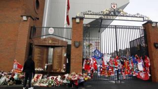 The Hillsborough memorial at LFC