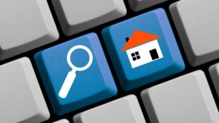 Online estate agent graphic