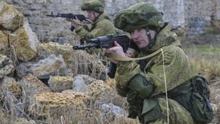 Російські військові під час навчань