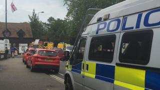 Buildings were evacuated and a cordon was put in place in Stratton Way