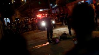 Cena de crime em Manaus