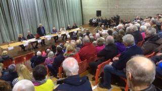Public meeting in Beaumaris