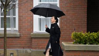 Meng Wanzhou leaves her home to attend her extradition hearing at a Vancouver court in January