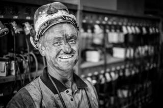 Portrait of a miner by Chris Upton