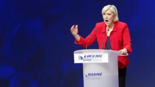 Марин ле Пен выступает