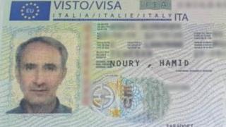 تصویر ویزای ورود حمید نوری به اروپا؛ او اکنون به ظن دست داشتن در کشتار ۶۷ در سوئد در بازداشت است