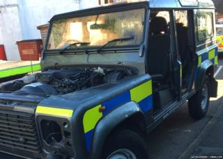 Police land rover