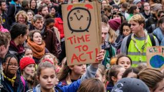 Thousands of people take part in a demontration on Climate Change, in Brussels, Belgium