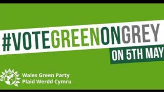 Vote Green on Grey flyer