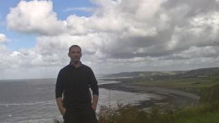 Author Cynan Jones in on the Cardigan Bay coastline