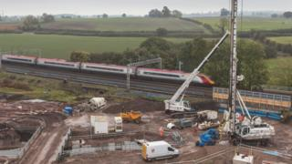 Work being carried out at Norton Bridge