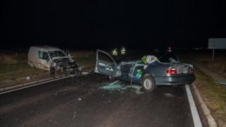 Crash scene at Alness