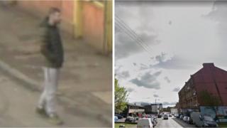 CCTV image and street
