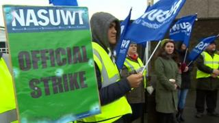 Pickets at Whitehaven Academy