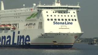The Stena Britannica ferry