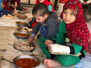 Enfants dans un camp dans le nord de la Syrie