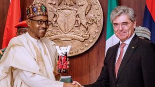 President Muhammadu Buhari meet with Joe Kaeser