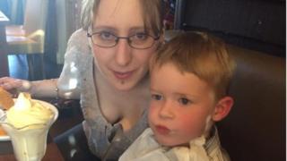 Nikki Pegram and son Freddie