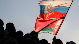 флаги россии и беларуси