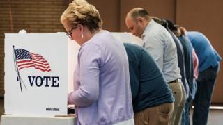 مركز اقتراع في الولايات المتحدة