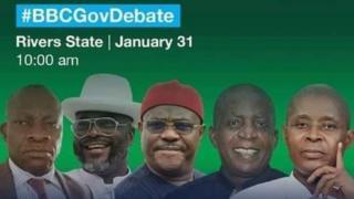 Foto of di candidates wey suppose show for di debate