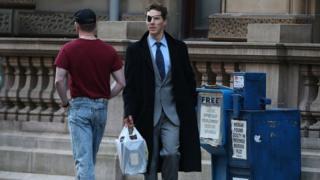Benedict Cumberbatch filming in Glasgow