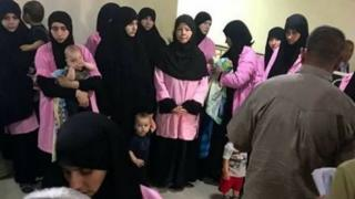 زنان متهم به همکاری با داعش