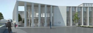 Artist's impression of new Inverness Justice Centre