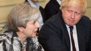 Boris Johnson with Theresa May